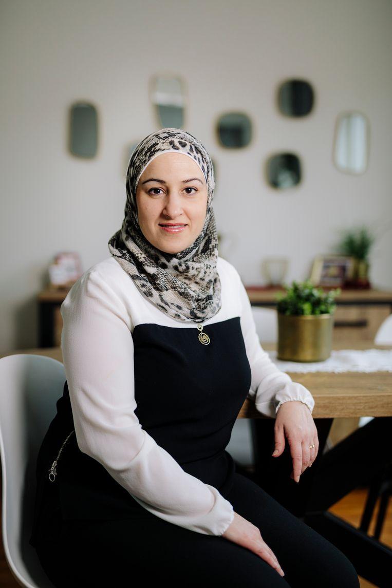Louma Nour Allah (43) uit Aleppo (Syrië) – werkt bij ABN Amro. Beeld Marc Driessen