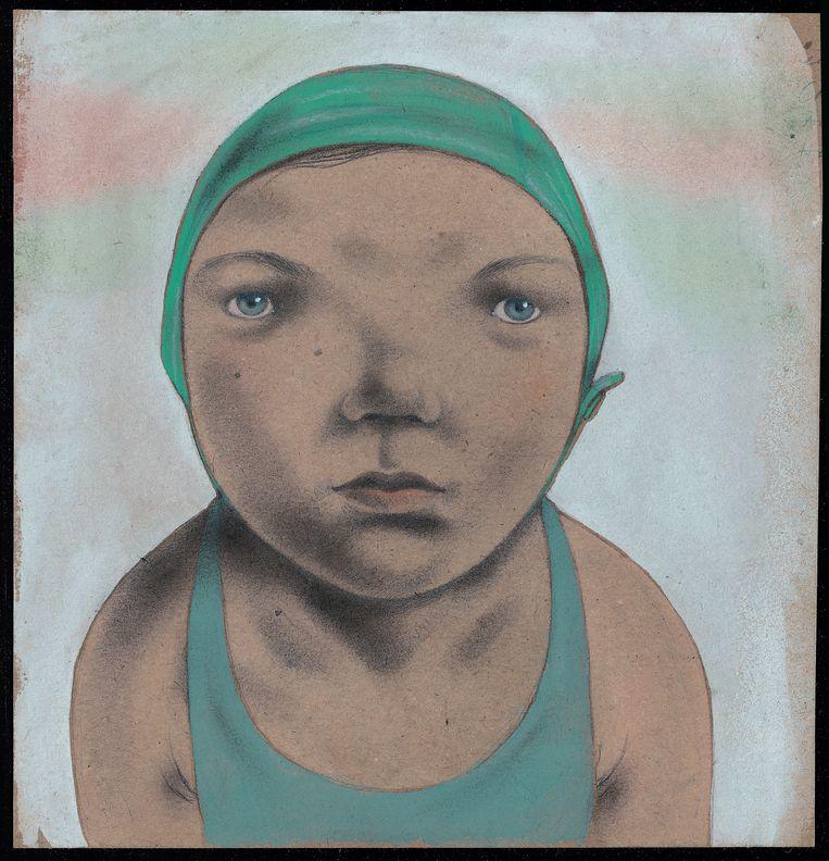 Een zelfportret van Ingrid Godon, nu te zien Villa Verbeelding in Hasselt Beeld Ingrid Godon