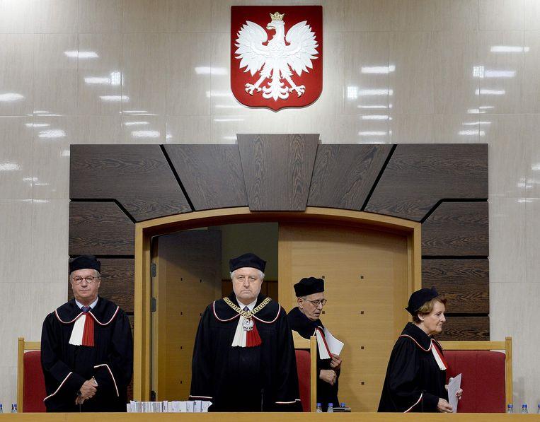 Het Poolse constitutionele hof. Beeld AFP