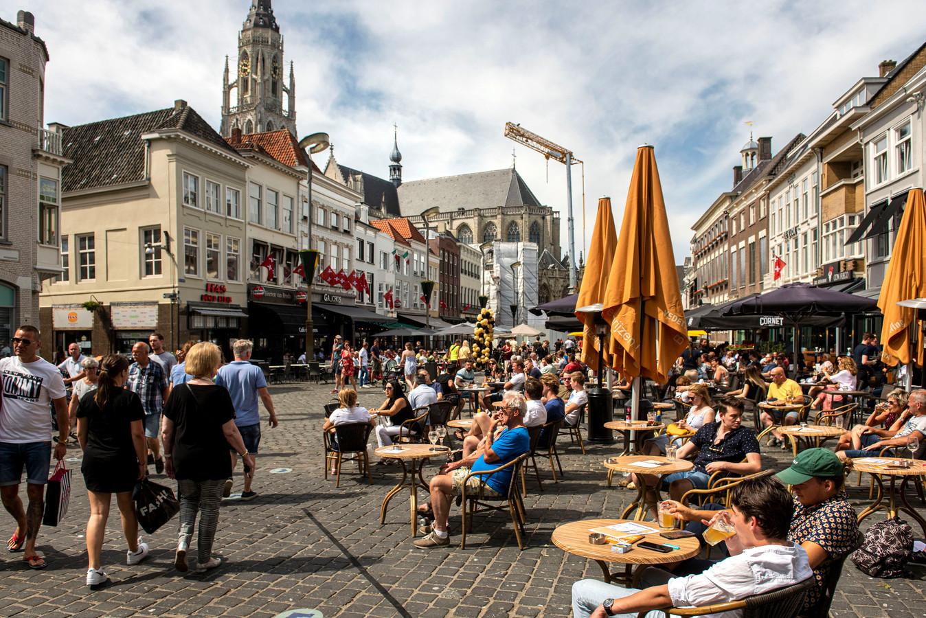 Het centrum van Breda tijdens Pinksteren.