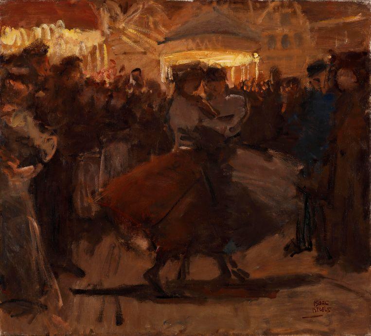 Isaac Israels, Kermis met danspaar in de Jordaan, 1893-1895. Beeld Particuliere collectie