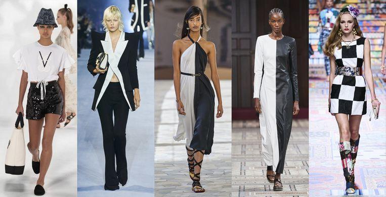 Vanaf links: Giambattista Valli, Balmain, Ports 1961, Gabriela Hearst, Dolce & Gabbana Beeld Imaxtree