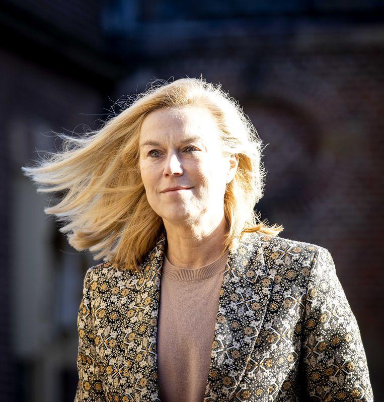 In haar speech tot het Els Borst Netwerk, dat strijdt voor meer diversiteit in het openbaar bestuur, richtte D66-leider Sigrid Kaag zich zaterdag nadrukkelijk tot alle Nederlandse mannen. Beeld ANP
