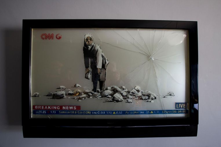 Banksy's work is displayed in  the