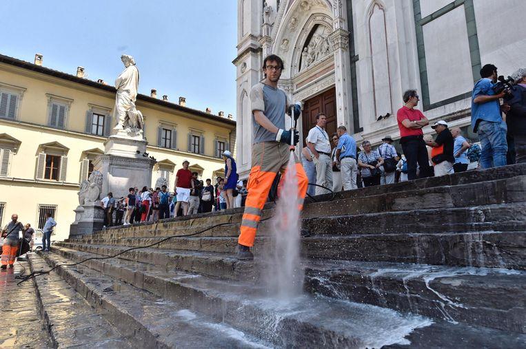 Vorig jaar werden picknickende toeristen in Firenze 'aangepakt'.