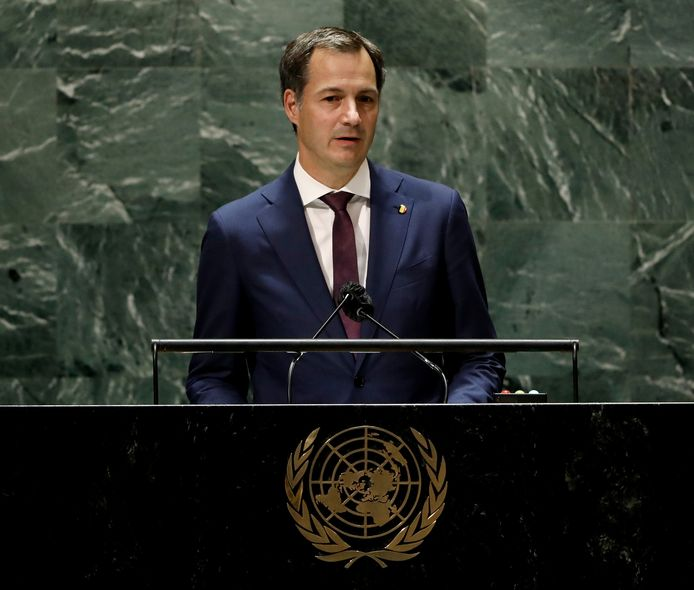 Alexander de Croo à la tribune de l'ONU ce vendredi soir.