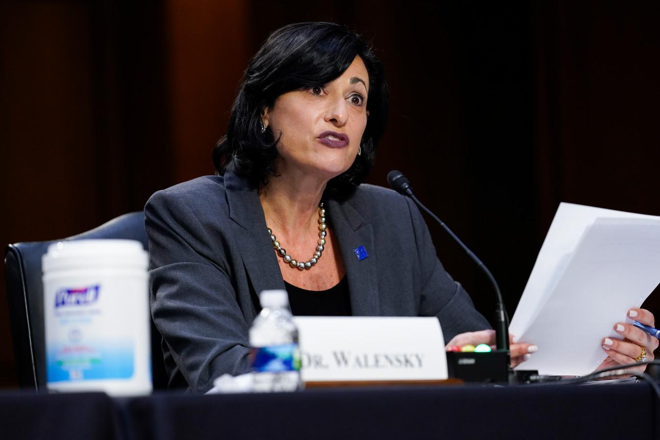 De directeur van de Centers for Disease Control, Rochelle Walensky.