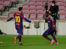Barcelona op punt van Atlético na verlossende goal Dembélé: 'We bleven erin geloven'