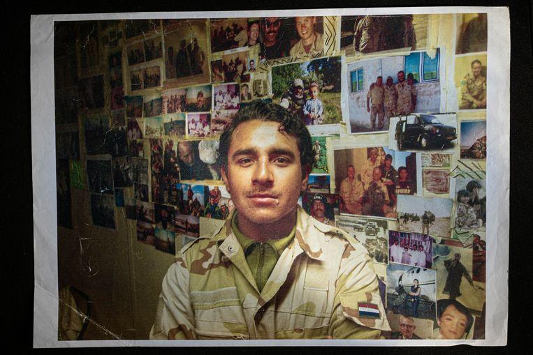 Mustafa Neamati was tolk voor de Nederlandse troepen in Afghanistan. Toen zij vertrokken werd het te gevaarlijk om te blijven en werd hij uiteindelijk naar Nederland gehaald. Veel collega's van hem zijn achtergebleven en lopen nog steeds gevaar. Beeld Kees van de Veen