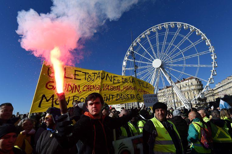 Demonstranten in de Zuid-Franse stad Marseille.