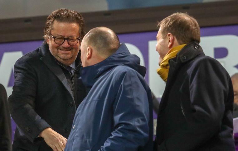 Met Marc Coucke, ex-voorzitter van de club. Beeld BELGA
