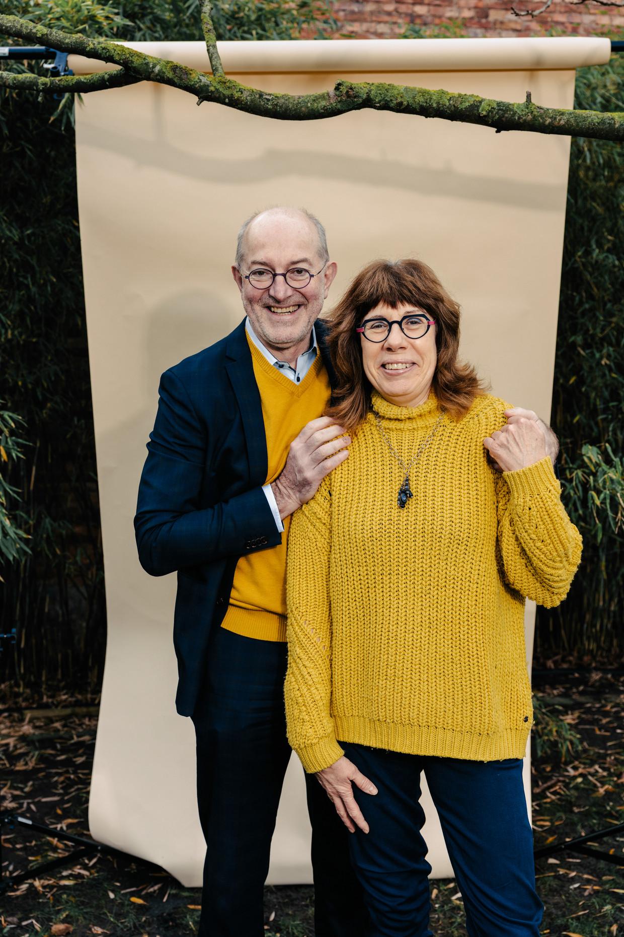 Pierre Van Damme en echtgenote Myrjam Cramm. Kontich, december 2020. Beeld Damon De Backer