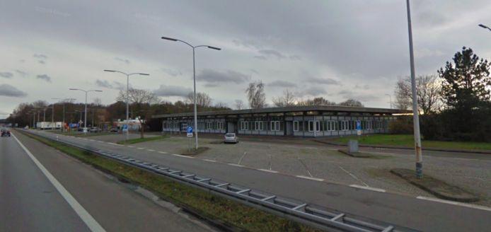 Het terrein van grensovergang Emmerik/Elten.