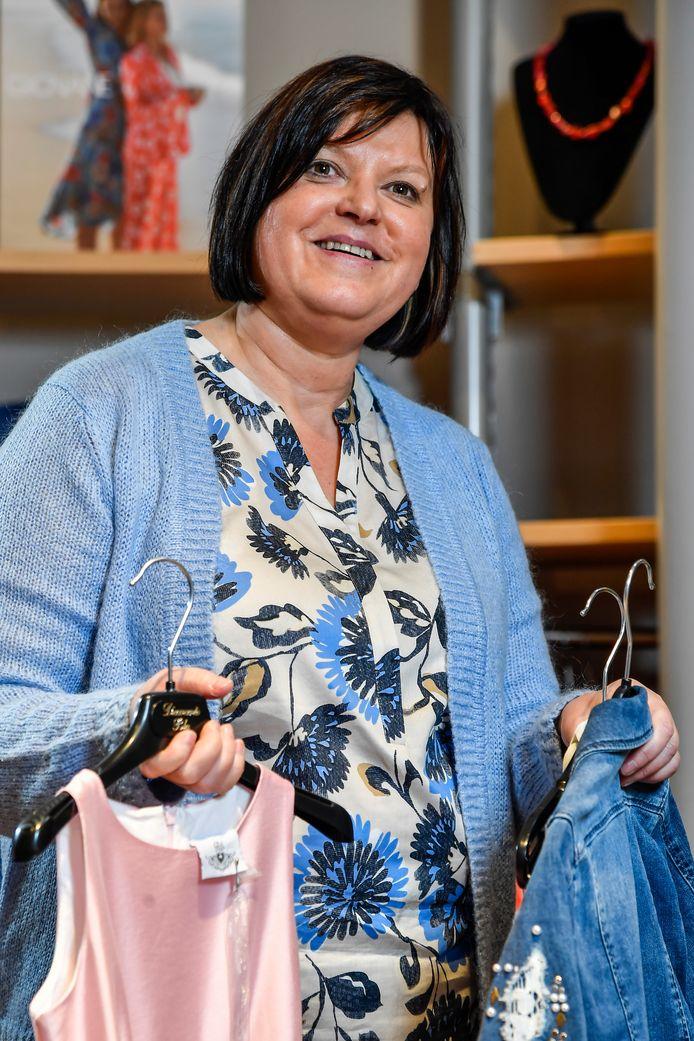 Christine Leus, zaakvoerder bij kledingzaak Anita's