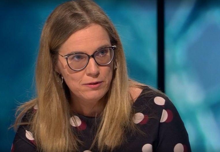 Hoogleraar psychiatrie Inez Germeys (KU Leuven): 'Mensen moeten zichzelf toelaten zich slecht te voelen.' Beeld VRT