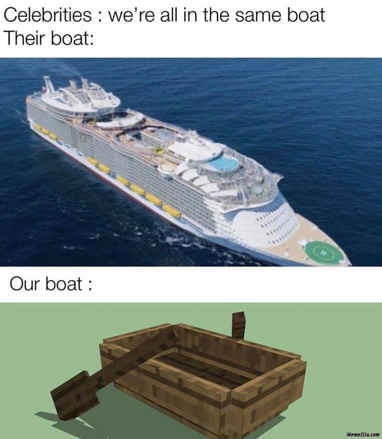 Iedereen in dezelfde boot? Beeld rv