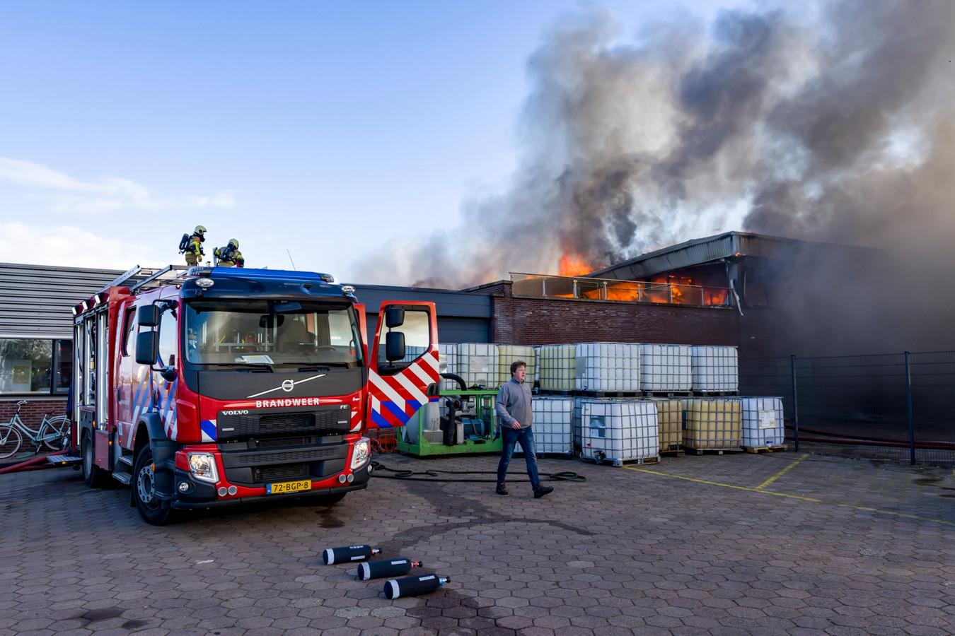 Grote brand in Werkendam.
