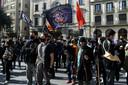 Betogers vrijdagmiddag in Barcelona.