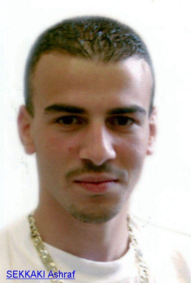 Ashraf Sekkaki op een foto die de politie in 2003 vrijgaf. Beeld BELGA