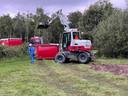 Afgraving stuk grond in Middelbeers.
