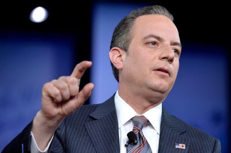 Stafchef Reince Priebus die volgens CNN contact heeft gelegd met de FBI over een lopend onderzoek. Beeld AFP