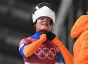 Kimberley Bos op de Olympische Spelen in in Pyeongchang.