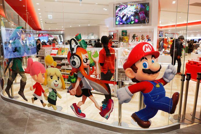 De meest bekende Nintendo-personages waaronder Mario.