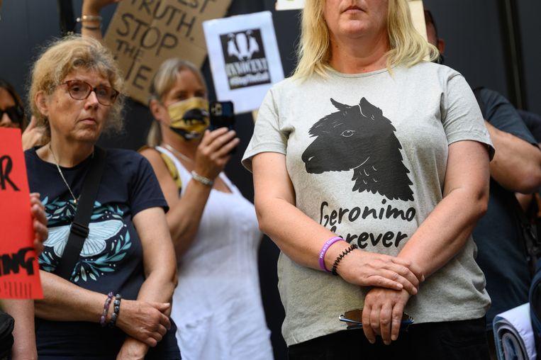 Het protest tegen het afmaken van alpaca Geronimo heeft niet geholpen.  Beeld Getty