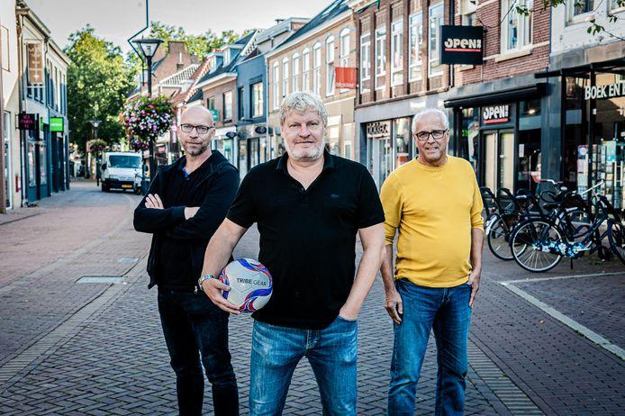 Jeroen Jordens,  Ronald van Ark en Herman Ubbink (v.l.n.r.) werden eerder dit jaar gepresenteerd als trainerstrio van SDZZ.