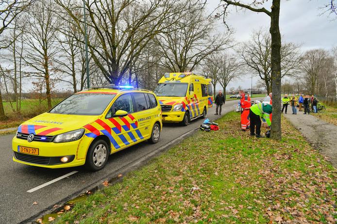 Ongeluk op de Maarheezerweg in Budel.
