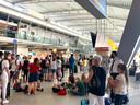 Ook de vertrekhal van Eindhoven Airport stroomde deze zomer langzaam maar zeker weer vol.
