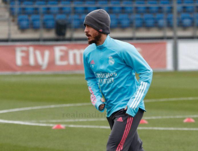 Eden Hazard op training vandaag