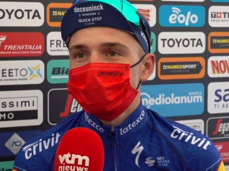 """Remco Evenepoel knap zevende in openingstijdrit Giro: """"Heel blij"""""""