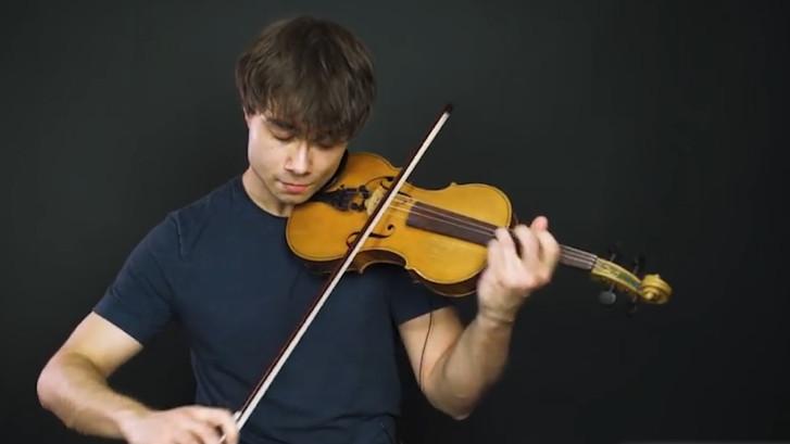 Songfestivalwinnaar gaat met viool los op Outlaw In 'Em