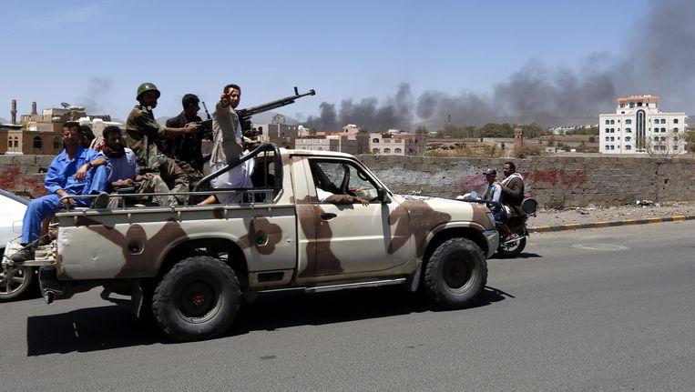 Houthi-rebellen in Jemen Beeld epa