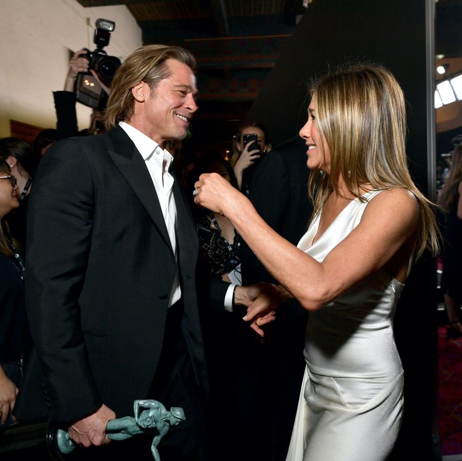 Brad Pitt et Jennifer Aniston.