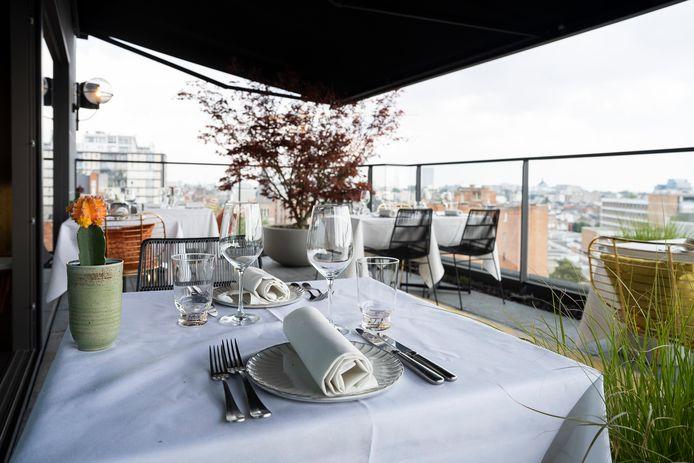 Bij Laila kan je dineren met een prachtig uitzicht over Antwerpen.