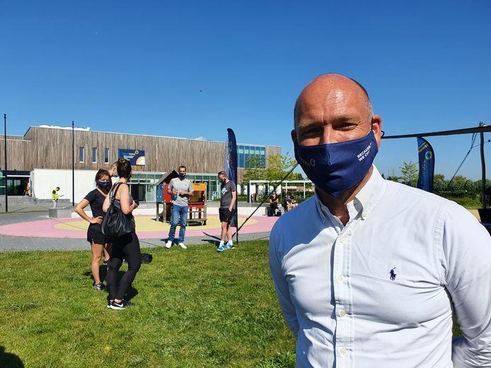 Een week voor de binnensporten weer mogen, organiseerde Sportoase in Hoogstraten een testevent in samenwerking met de ministers van Sport. Michael Schouwaerts is een tevreden man.