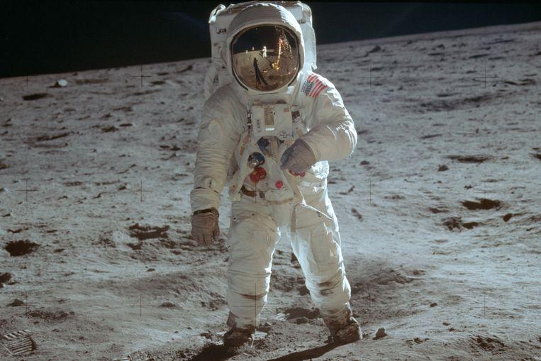 De VS sturen als eerste iemand naar de maan in 1969. Beeld AP