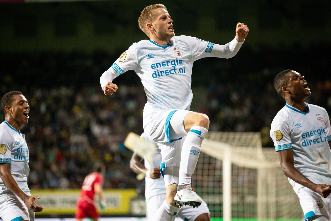 Dante Rigo in actie voor PSV.