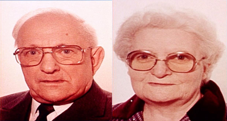 Jules Bogaerts (81) en Jeanne Jacobs (78) werden op 10 december 1991levenloos en zwaar verminkt aangetroffen in hun huis in Tienen. Beeld RV
