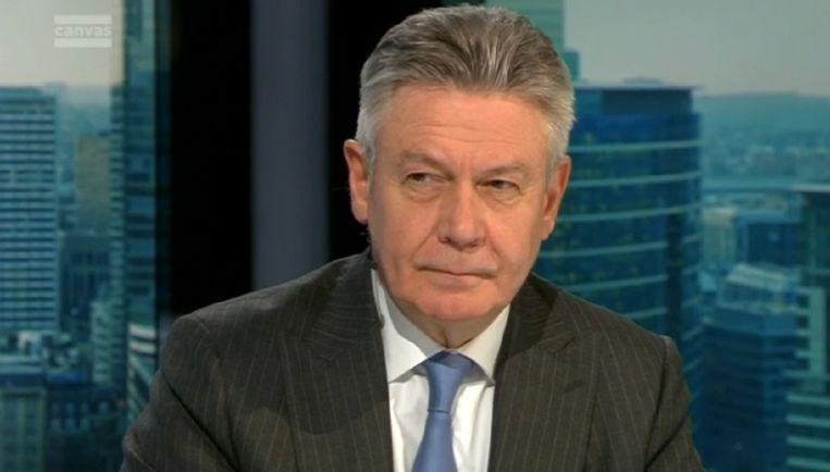 Karel De Gucht in Terzake op Canvas.  Beeld VRT