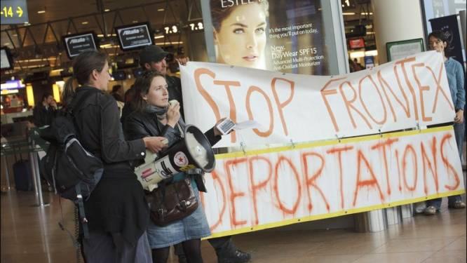 Betoging tegen collectieve uitwijzing op Brussels Airport