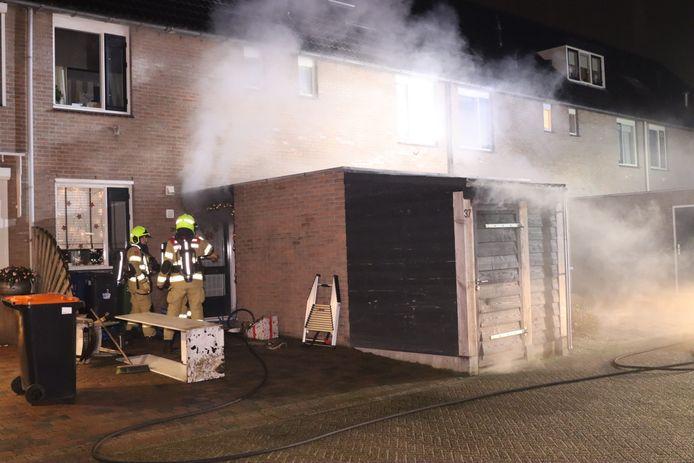 De brand veroorzaakte vooral veel rook.