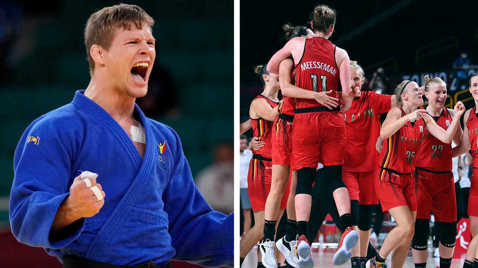 Le judoka Matthias Casse qui a décroché le bronze en -81kg. De leur côté, les Belgian Cats ont démarré leur tournoi par un exploit contre l'Australie.