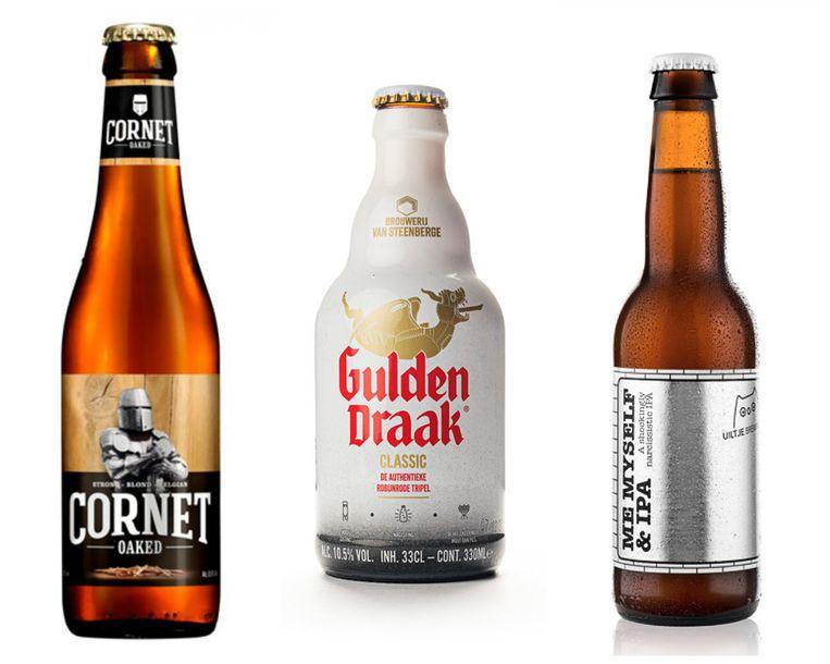 Cornet Oaked, Gulden Draak en Me, Myself & Ipa. Beeld rv