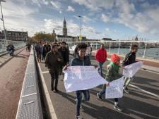 Demonstratie Eritreërs in Kampen tegen komst ambassadeur