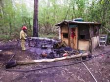 Onderkomen van dakloze man verwoest door brand in Eindhoven