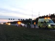 Vrouw zet auto met paardentrailer op vluchtstrook A1 bij Rijssen, weg tijdelijk afgesloten