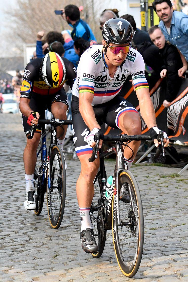 Peter Sagan tijdens de Ronde van Vlaanderen. Beeld Belga